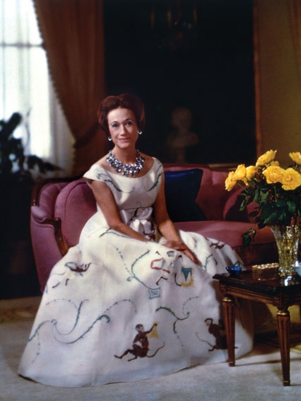 Wallis Simpson in her famous monkey gown.