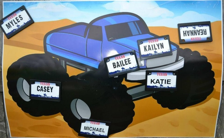 Pin The License Plate On The Monster Truck Game Monster