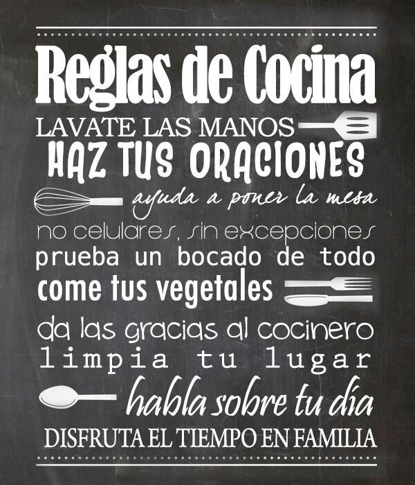 Reglas de cocina