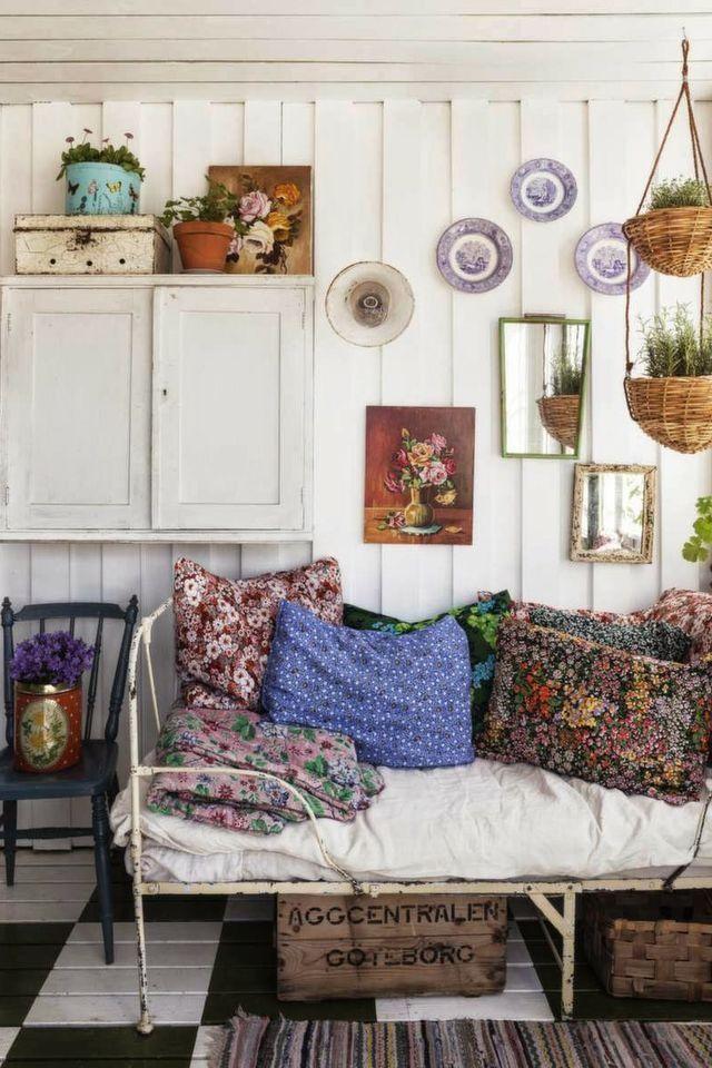 Un intérieur bohème et vintage