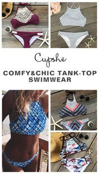 Hot Sale Now, Free Shipping! Ready for the coming summer? We have saved all kinks of swimwear pieces for you.  Printing, contrast color or tank top, tie-design bottom, all are yours. Slip into any one like a wonderful dream at Cupshe.com
