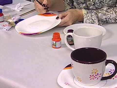 Acrilex - Artesanato - Pintura em porcelana