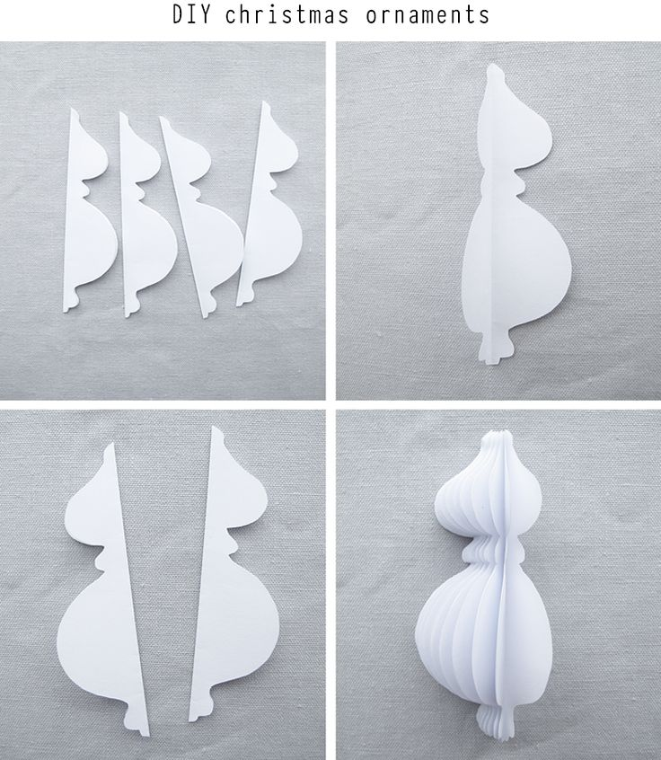 DIY Paper Christmas Ornaments from Design and Form