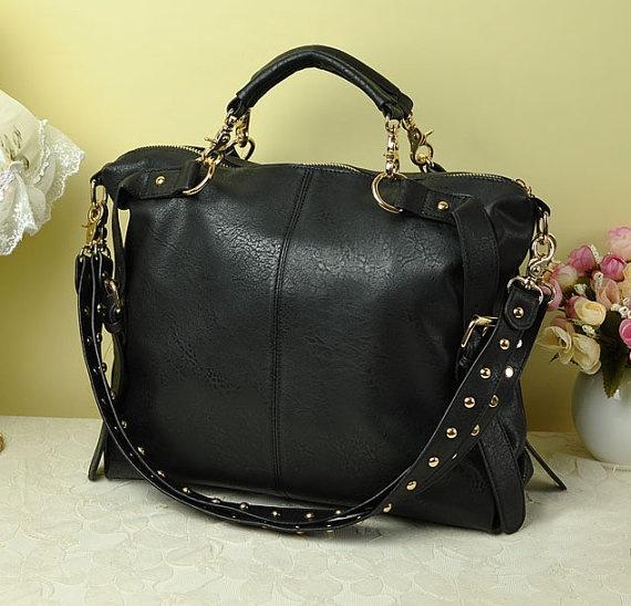 Women leather tote handbag leather tote purse/Laptop by uniquedkz, $62.00