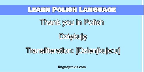 thank you in polish