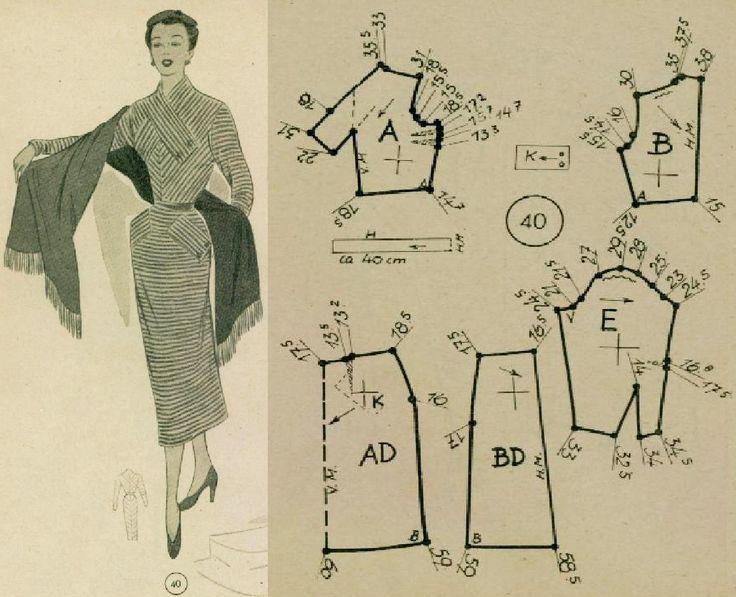 351 best Kldg Vintage 50er images on Pinterest | Patron de couture ...