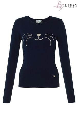 Buy Lipsy Cat Face Jumper from the Next UK online shop