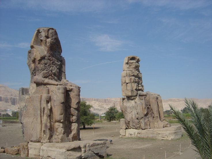 Luxor (Thebes), Egypt, Colossi of Memnon, West Bank