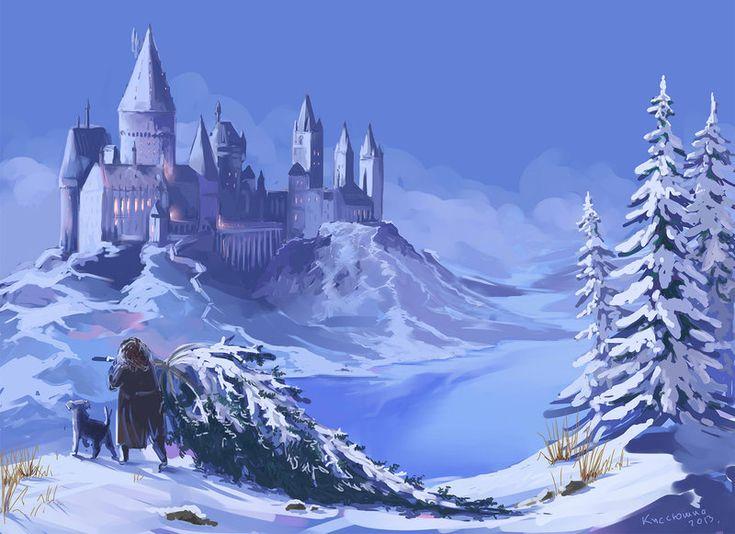 Hogwarts In Winter by Kseniya [©2013]