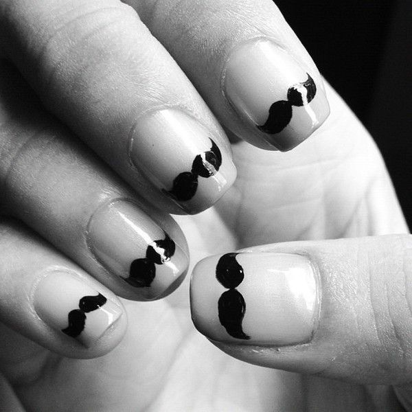 Mustache.: Photos, O S Photo, Nail Obsessed, Nails Nailart, Nails Nails Nails, Mustache Nails, Nail Art
