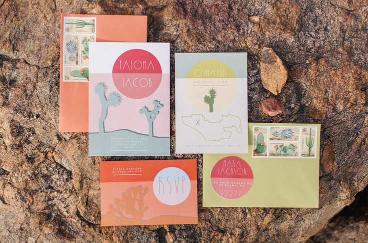 Bohemian elopement inspiration in joshua tree trees for Joshua tree wedding invitations