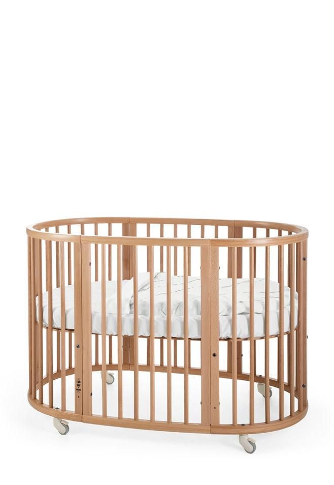 Stokke Sleepi Crib/Bed in Natural –Has a height adjustable mattress too for your growing baby.