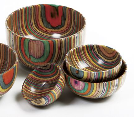 Norpro Rainbow Wood bowls (and spoons and scoops and pepper grinders)