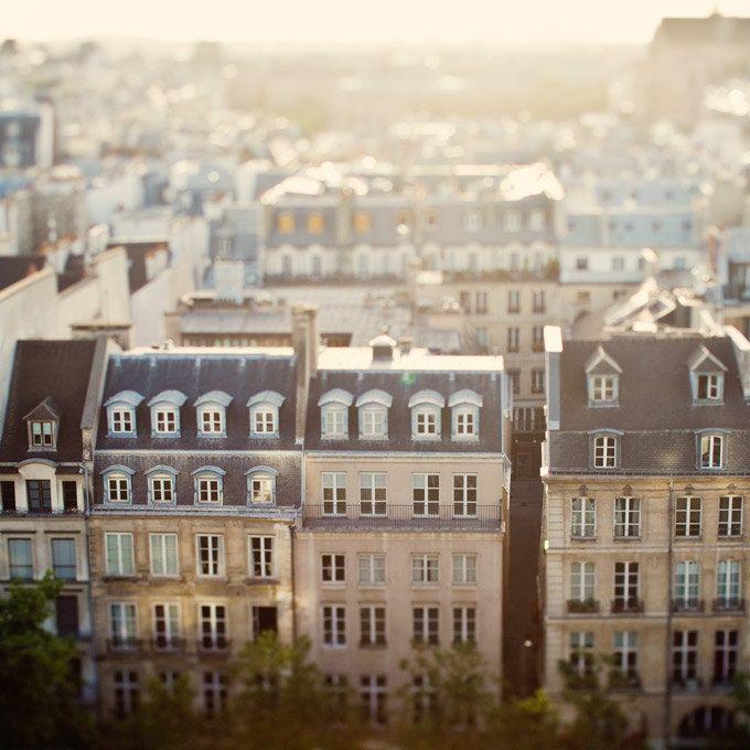 Paris Photograph, Roofops, Paris Decor, France, Dreamy Travel Photography, Cafe Au Lait, Autumn Colors - Dans Mon Reve de Paris.