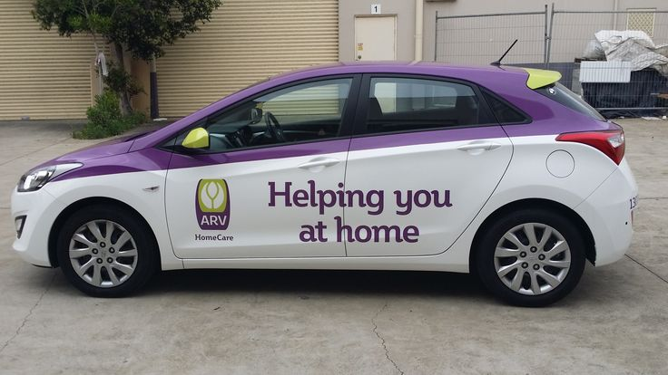 Cunneen Signs - Anglican Retirement Village Car full wrap. vehicle signage.