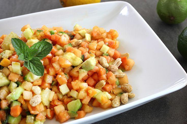 erfrischender Papaya-Minz-Salat