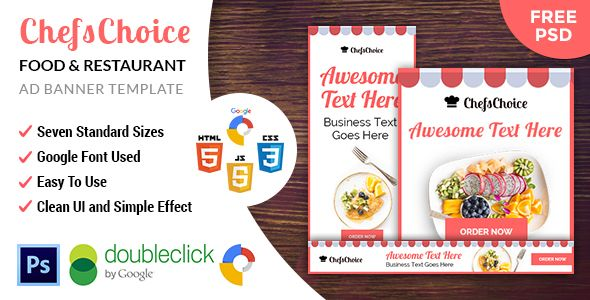 ChefsChoice | Restaurant HTML 5 Animated Google Banner - CodeCanyon Item for Sale
