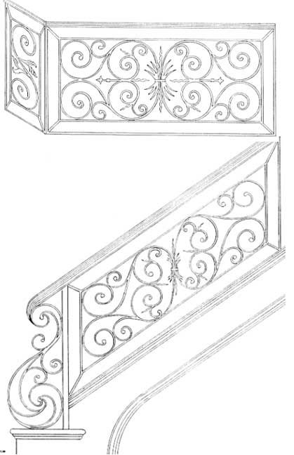 Railing Designs | Stair Railing | Iron Stair Railings