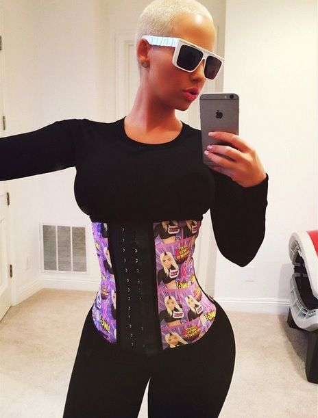 Amber Rose is a fan of waist training - buy your 100% latex and steel boned waist trainer here