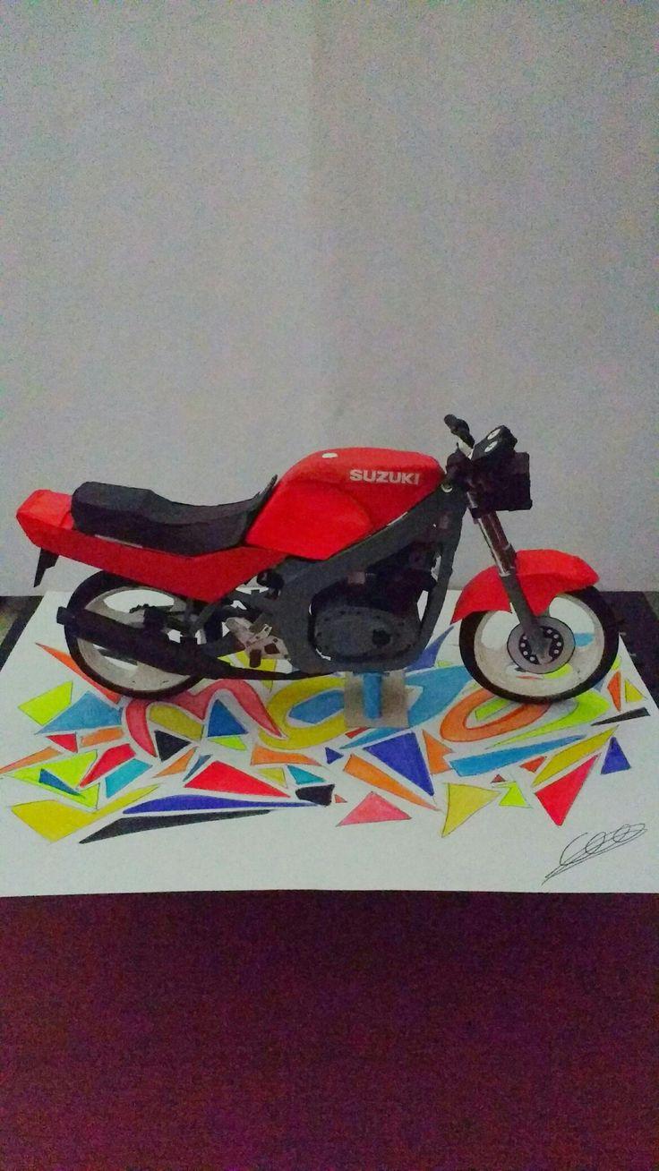 Gs500  Suzuki  Arte  Art  Maqueta  Modelismo  Moto  Motos