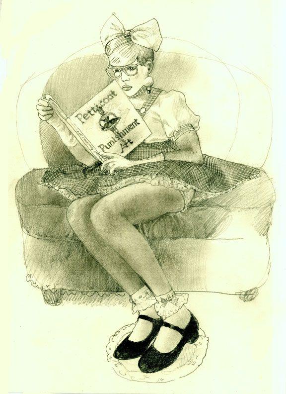 Drawn By Vancy For Www Petticoatpunishmentart Com Boy On