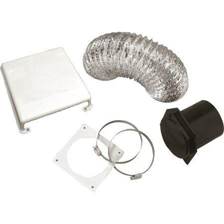 Splendide Deluxe RV Dryer Vent Kit, White