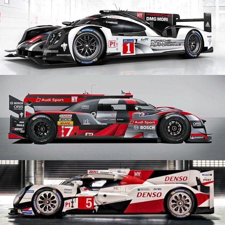 2016 WEC LMP1-Hybrid class :: Porsche 919, Audi R18, Toyota TS050