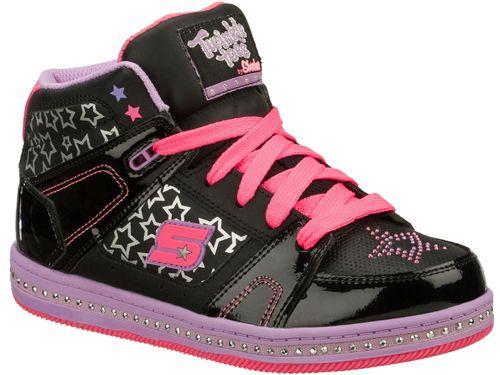 Skechers Sneakers Meisjes - Kleur: Zwart/Paars - Gratis Verzending