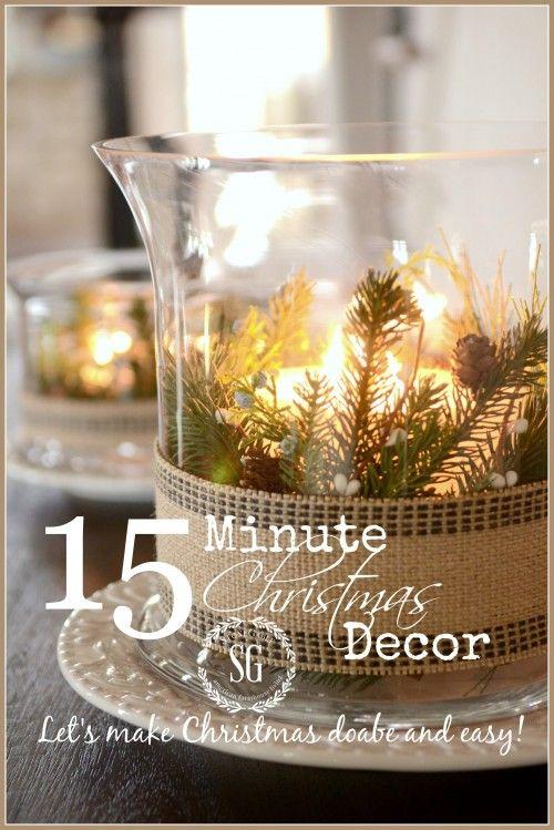 15 MINUTE CHRISTMAS DECOR-let's make Christmas easy and doable- button-stonegableblog