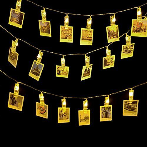 LED Photo String Lights-AngleLife 20 Photo Clips Battery Powered