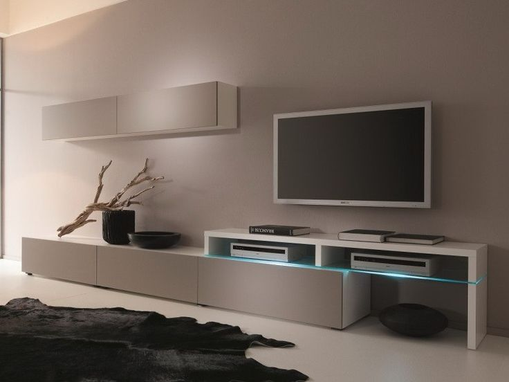 Creative Furniture AMSTERDAM CS 11101 Wall Unit - MATERIAL MDF, Melamine, Tempered Glass, LED Lighting. Modern livingroom furniture.