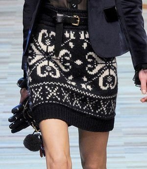 D Fall 2012: A knitted skirt I could actually get behind. (no pun intended)