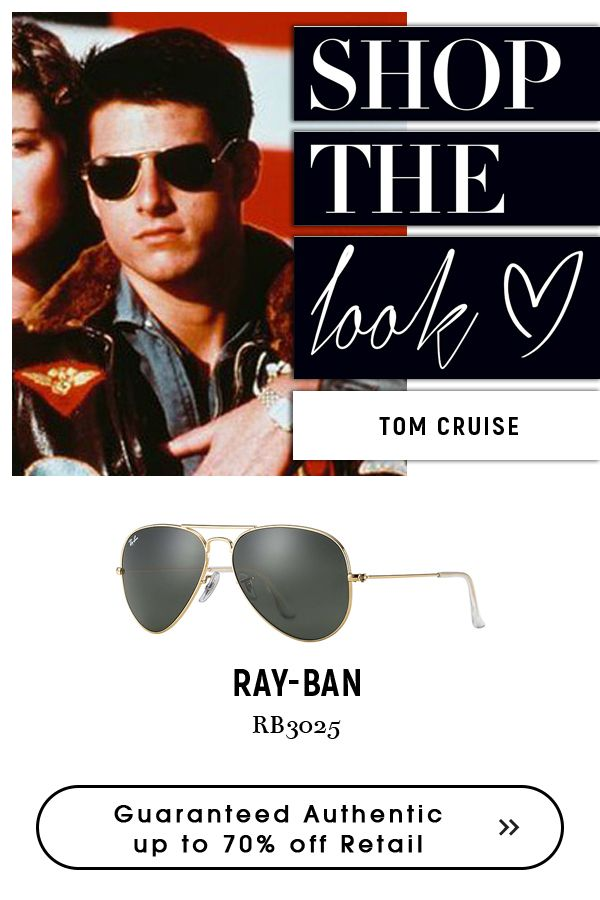 756e628051081 Tom Cruise Wearing  classic  rayban  aviator  sunglasses.