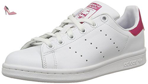 adidas Stan Smith, Sneakers Basses fille, Blanc (Ftwr White/Ftwr White/Bold Pink), 38 EU (UK child 5 Enfant UK) - Chaussures adidas (*Partner-Link)