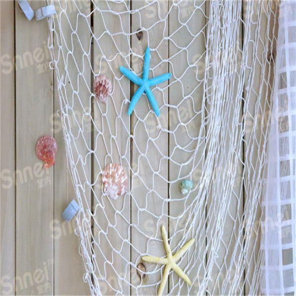 Günstige Mode dekoration wandbehänge HOT Home Das Mittelmeer stil Wandaufkleber großen fischernetz dekoration QB673216, Kaufe Qualität Wandaufkleber direkt vom China-Lieferanten:     100% Nagelneu und Hohe Qualität  größe: 100*200 cm  Wärmen sie spitze: Bitte dass aufgrund lichteffekte, helli