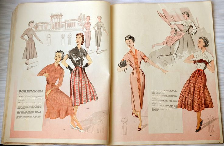 Soviet fashion magazine 1955 from Central universal shop, Moscow. Vintage Men's, women's and children's models of clothes.   https://www.etsy.com/listing/262394906/soviet-fashion-magazine-1955-from?ga_order=most_relevant