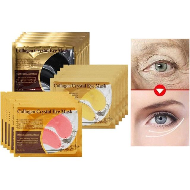 10 12 16pcs Collagen Eye Mask Pad Ageless Anti Wrinkle Eye Patches For The Eyes Dark Circles Remover Sheet Ma Anti Wrinkle Eye Remove Dark Circles Dark Circles