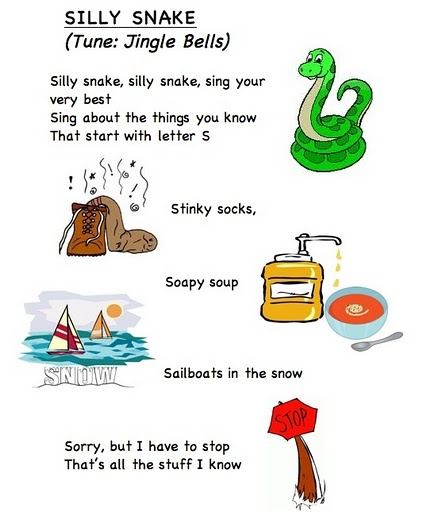 Alphabet letter song S (words from Frog Street Press)