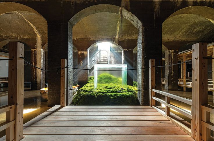 Experience a breath-taking exhibition by Hiroshi Sambuichi in The Cisterns. An inspiring meeting between Danish and Japanese design- and material traditions.