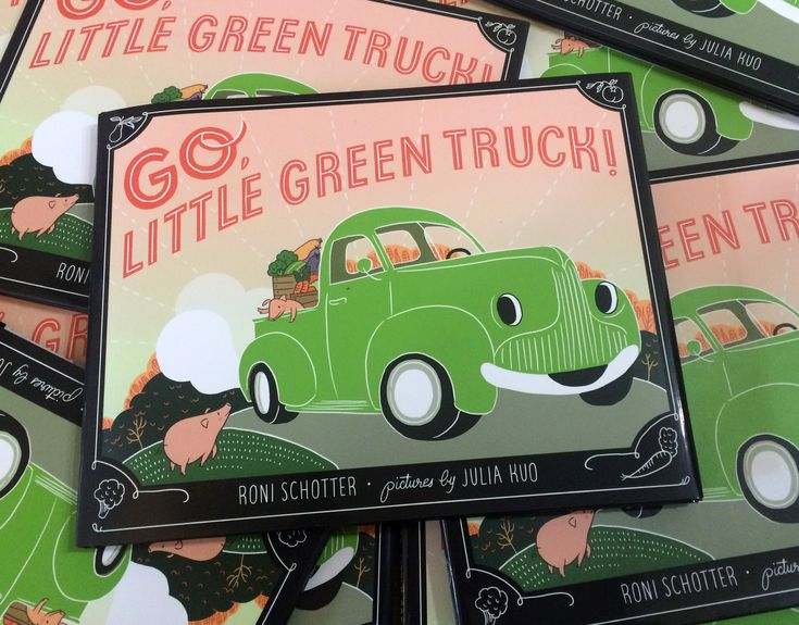 Selected illustrations from Go, Little Green Truck! Written by Roni Schotter and published by Farrar, Straus and Giroux / Macmillan Publishing, 2016.