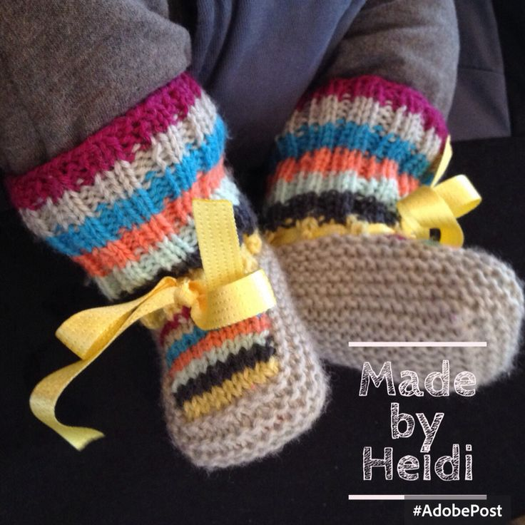 Vauvan tossut / Knitted baby booties DIY