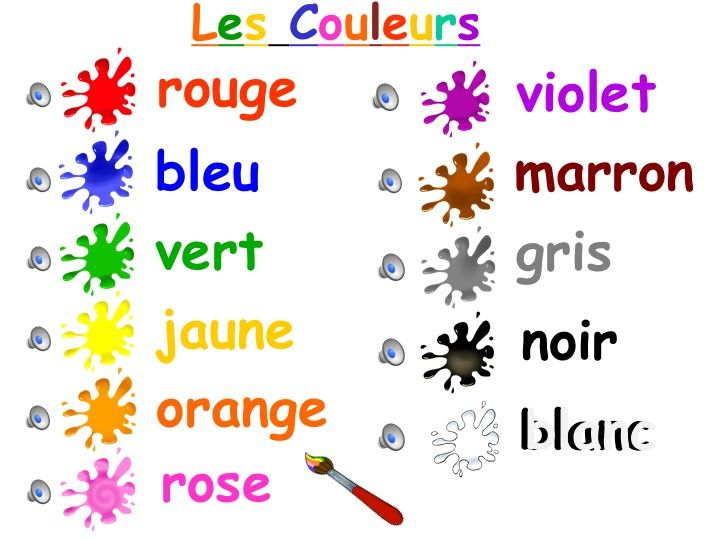 Image result for FRENCH COLOURS