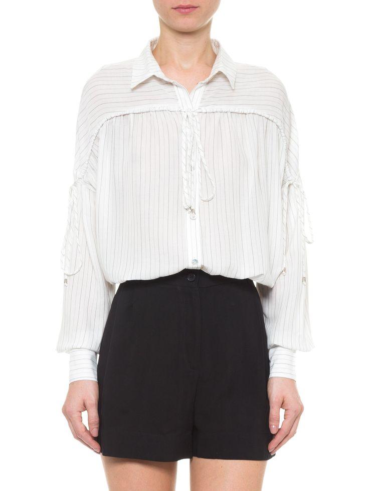 Camisa Feminina Maxi Listrada - Twenty Four Seven - Branco  - Shop2gether