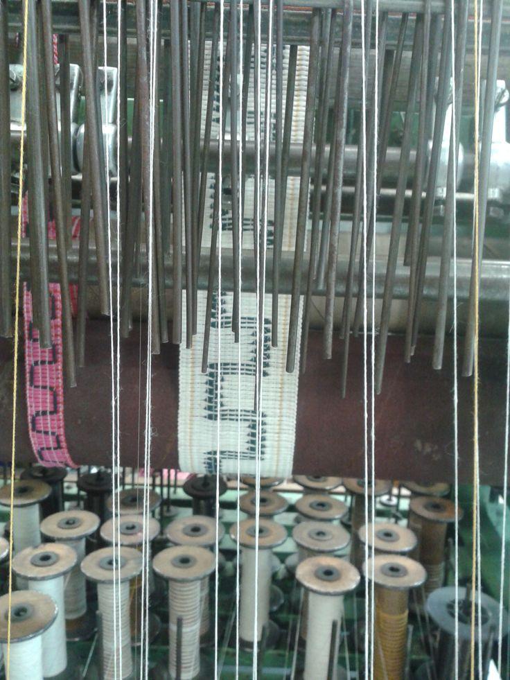 unique 'Meander' design on the loom
