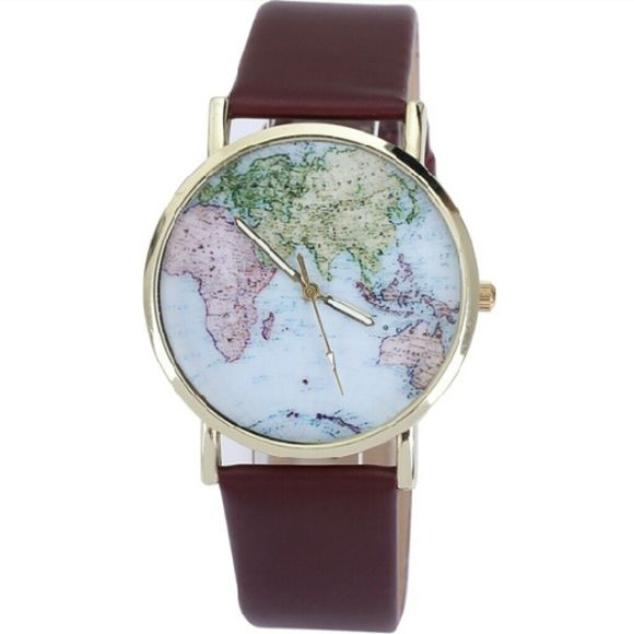Map watch Hipster watch Map of the world Urban Outfitters Accessories Watches