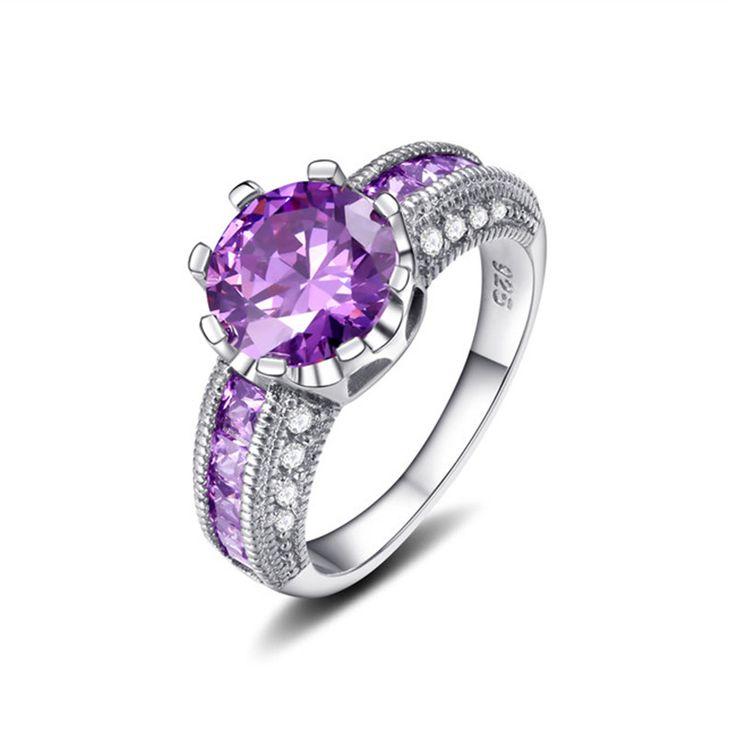 Роскошный дизайн серебряная свадьба/обручальные кольца с AAA Циркон Ювелирных Изделий Способа Верхнего Качества купить на AliExpress