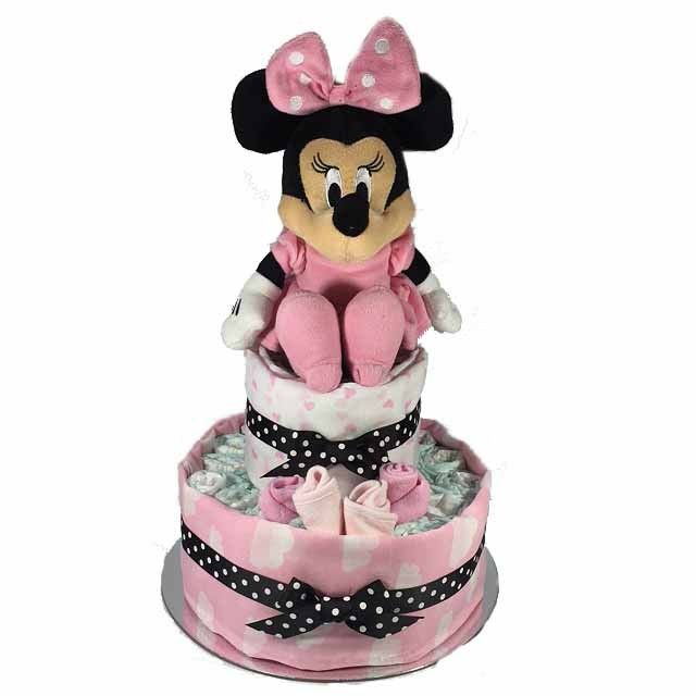 Minnie Mouse Nappy Cake - 2 Tier