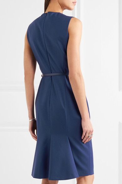 Max Mara - Wool-blend Dress - Blue - UK18