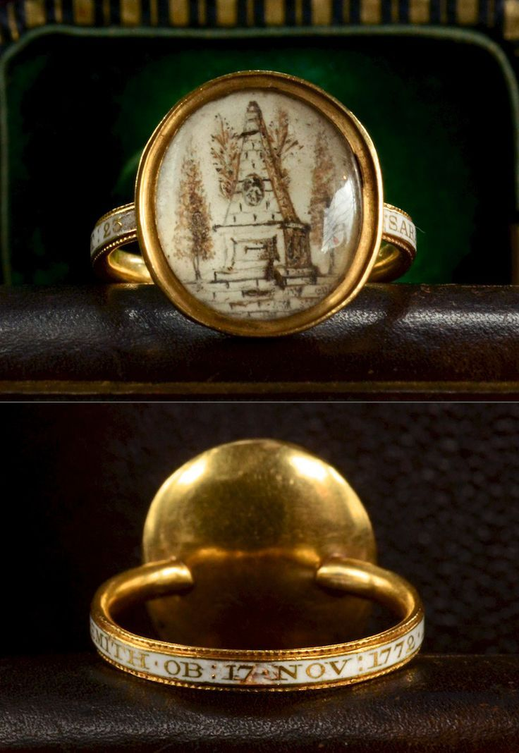 1772 Georgian Sepia Miniature Mourning Ring