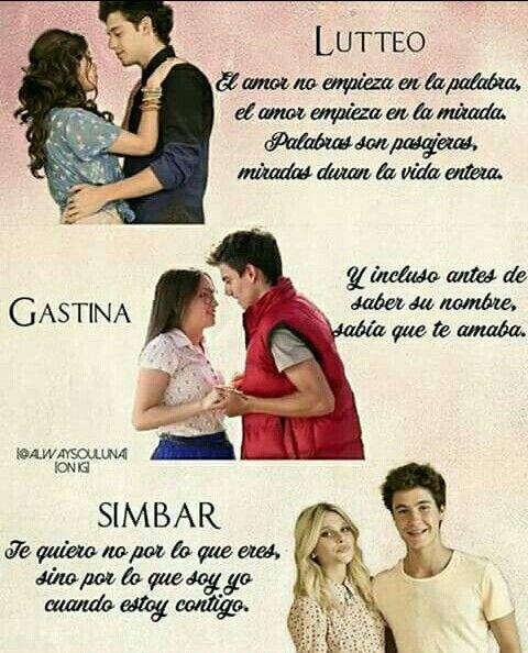 Las parejas perfectas #lutteo  #Gastina #simbar  Son lo más